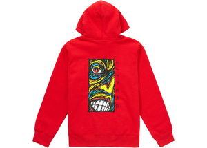 Supreme Disturbed Zip Up Hooded Sweatshirt Red Size L