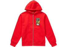 Load image into Gallery viewer, Supreme Disturbed Zip Up Hooded Sweatshirt Red Size L