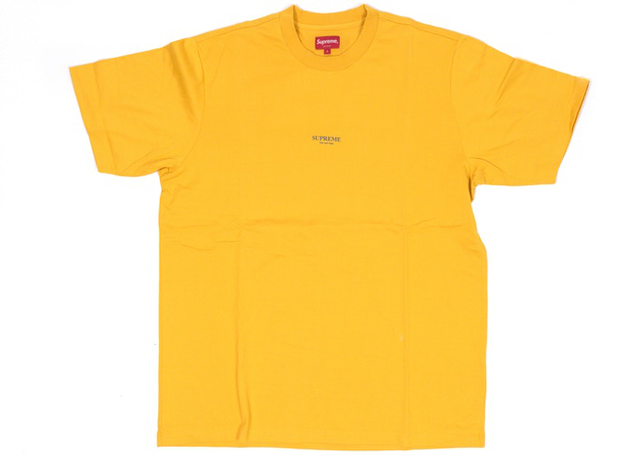 Supreme First & Best Tee Gold Size XL