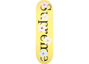 Supreme Flowers Skateboard Deck Yellow