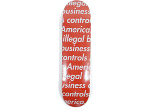 Supreme Illegal Business Skateboard Deck Red