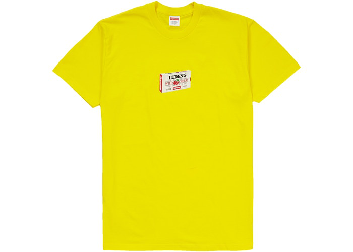 Supreme Luden's Tee Yellow Size L