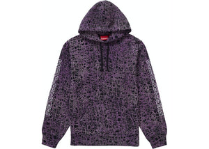 Supreme Marble Hooded Sweatshirt Purple Size L
