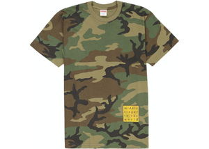 Supreme Middle Finger to the World Tee Woodland Camo Size M