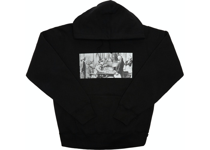Supreme Mike Kelley Franklin Signing the Treaty  Hooded Sweatshirt Black Size L
