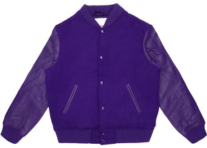 Supreme Motion Logo Varsity Jacket Purple Size S