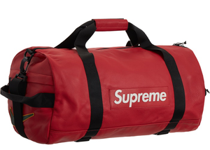 Supreme Nike Leather Duffle Bag Red