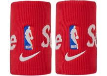 Load image into Gallery viewer, Supreme Nike NBA Wristbands (Pack Of 2) Red