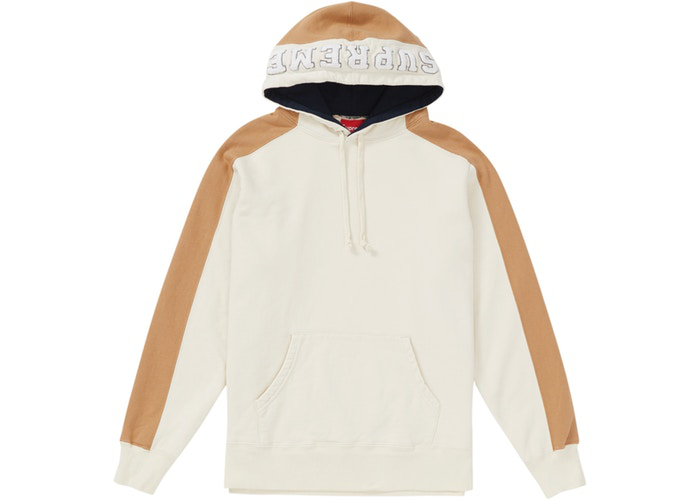 Supreme Paneled Hooded Sweatshirt Natural Size XL
