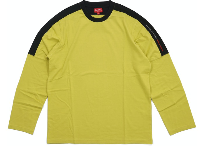 Supreme Paneled L/S Top Acid Green Size M