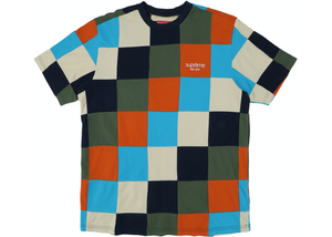 Supreme Patchwork Pique Tee Navy/Teal/Orange Size M