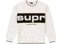 Load image into Gallery viewer, Supreme Piping Crewneck White Size L