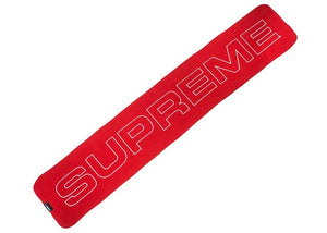 Supreme Polartec Logo Scarf Red