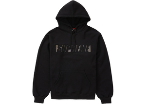 Supreme Reflective Cutout Hooded Sweatshirt Black Size M