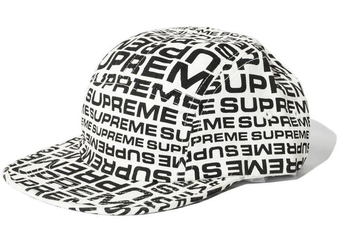 Supreme Repeater Camp Cap White