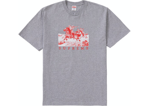 Supreme Riders Tee Heather Grey Size L