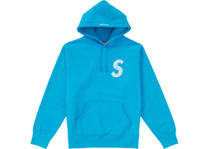 Supreme S Logo Hooded Sweatshirt (FW18) Bright Royal Size L