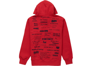 Supreme Stop Crying Hooded Sweatshirt Red Size XL