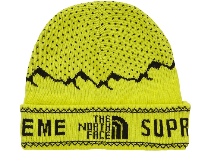 Supreme The North Face Fold Beanie Sulphur