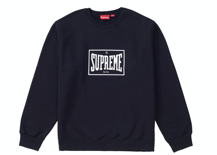 Supreme Warm Up Crewneck Black Size XL