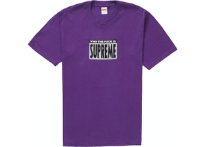 Supreme Who The Fuck Tee Purple Size M