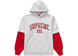 Supreme XXL Hooded Sweatshirt Ash Grey Size M