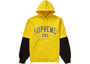 Supreme XXL Hooded Sweatshirt Yellow Size M
