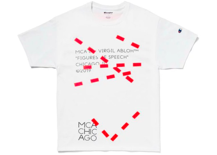 Virgil Abloh MCA Figures of Speech Lines Tee White Size XL