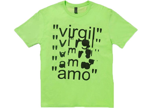 Virgil Abloh x MCA Figures of Speech Amo Tee Lime Size XXL