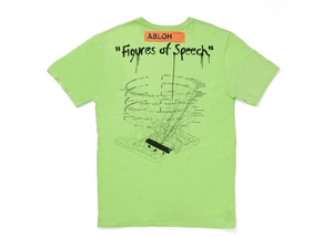 Virgil Abloh x MCA Figures of Speech FOS Tee Green Size L