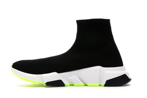 Balenciaga Speed Graffiti Trainers White / Black Neon Multi Sizes