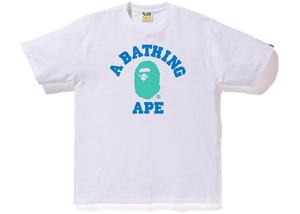 BAPE Colors College Tee White Size M