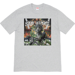 Supreme Dragon Tee Heather Grey Size  M