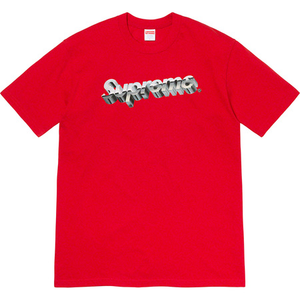 Supreme Chrome Logo Tee Red Size S