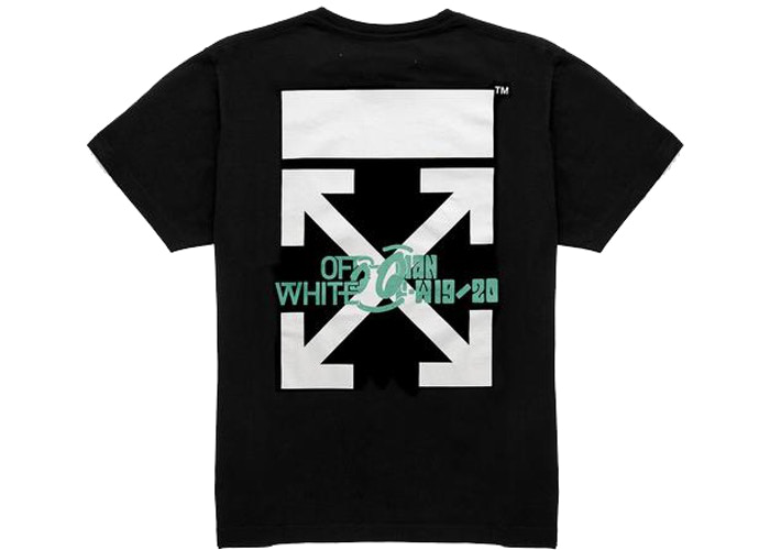 OFF-WHITE Waterfall T-Shirt Black/Multicolor Size M