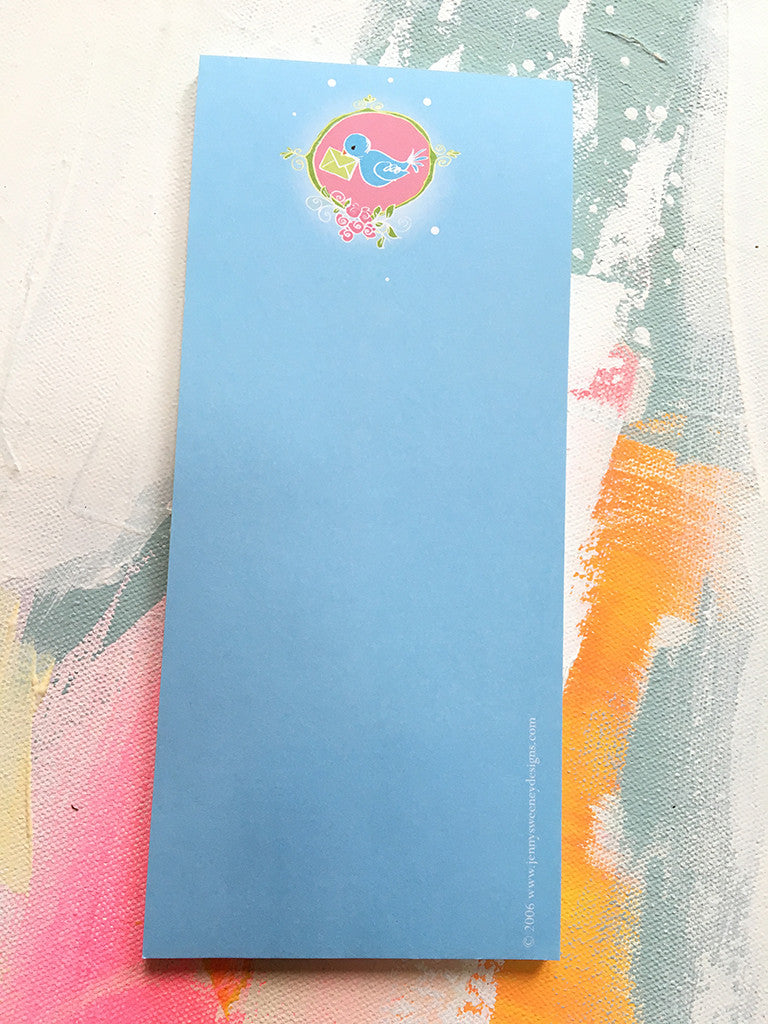 Bluebird of Happiness Notepad