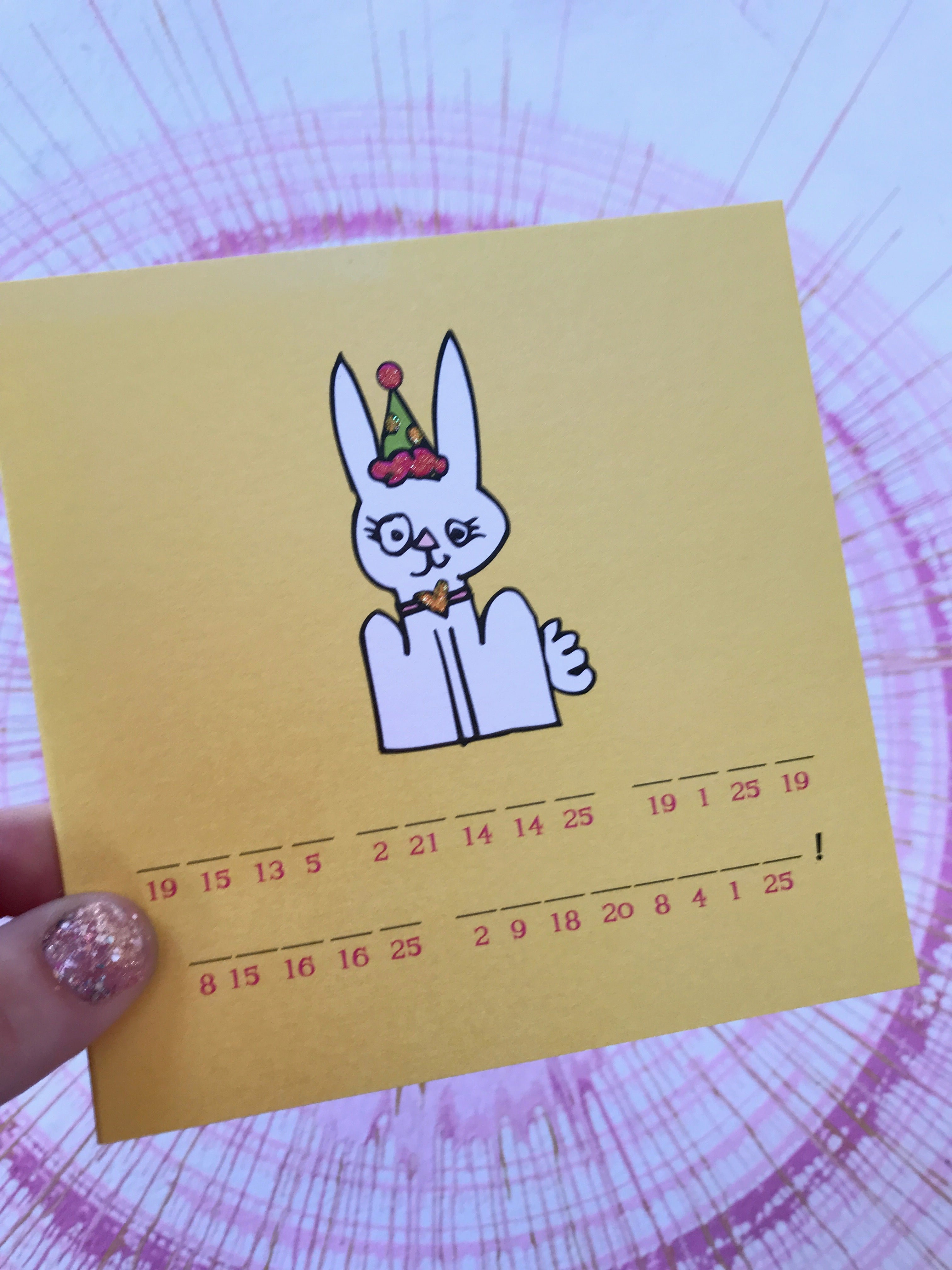 secret decoder card- bunny