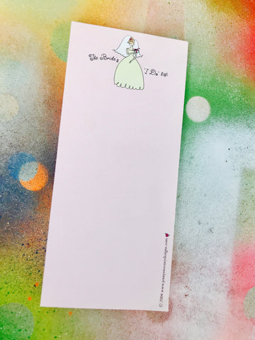 Brides's I do list Notepad
