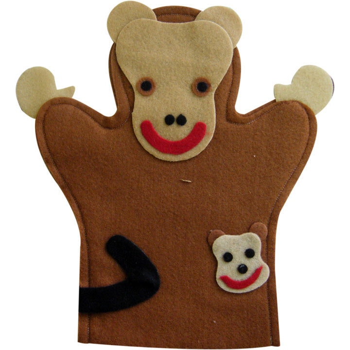 Puppet, glove, felt, animal, Monkey