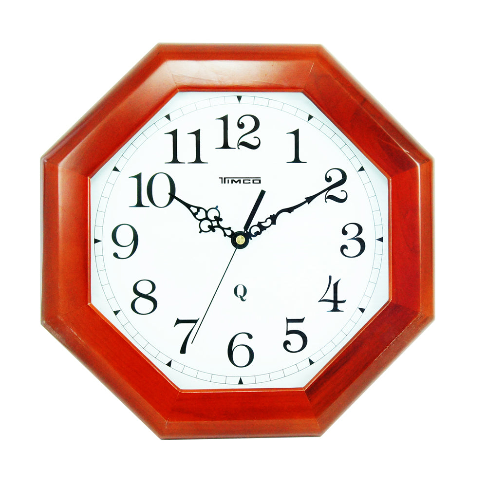 Reloj de Pared Madera Hexagonal Timco 4908