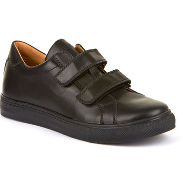 Froddo Black Double Velcro School Shoe G4130068