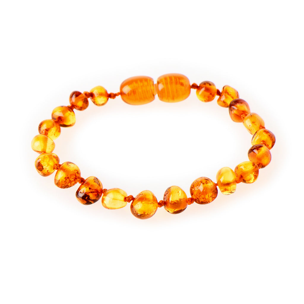Amber Teething Anklet - Honey
