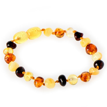 Amber Teething Anklet - Multi