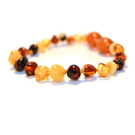 Amber Teething Necklace - Multi