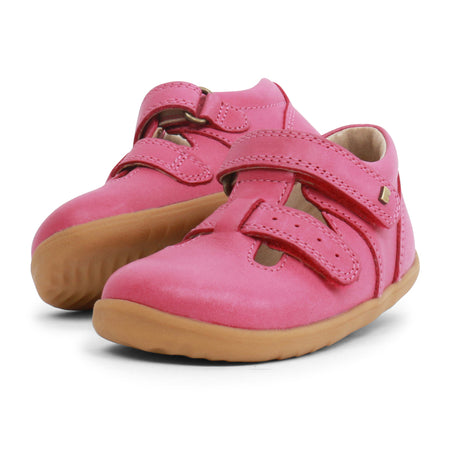 Bobux Jack and Jill T-bar Pink Step Up (First Walkers)