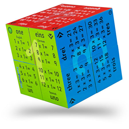 Multiplication Tables Cube Book - One to Twelve