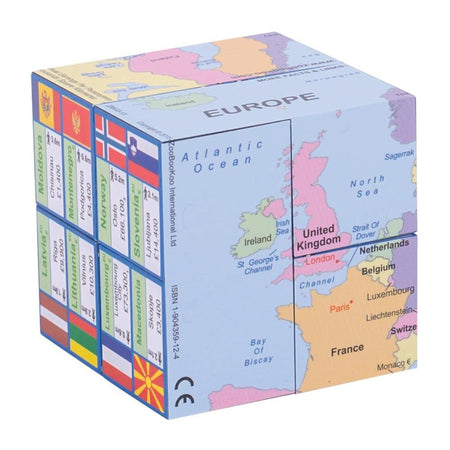 Europe Cube Book - Map, Flags & Facts