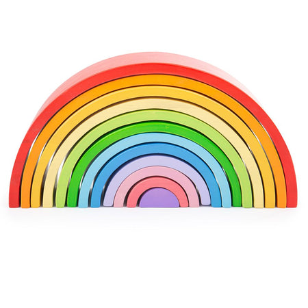 Wooden Stacking Rainbow: Large