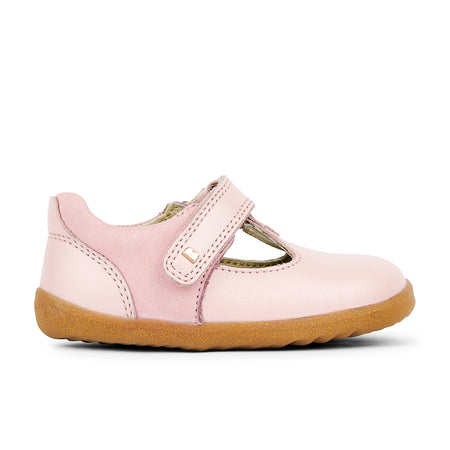 Bobux Louise T-Bar Seashell Pink Step Up (First Walkers)