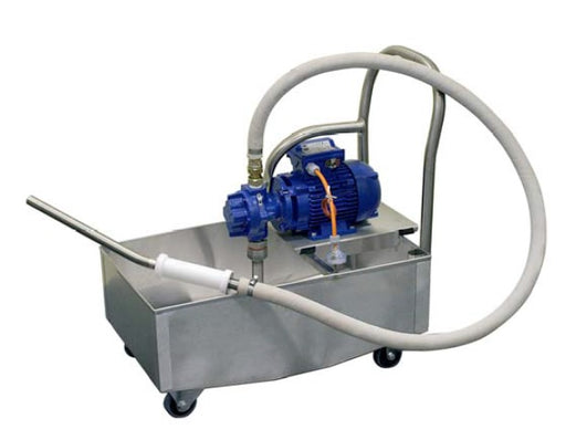 Blue Gizmo Oil filter machine